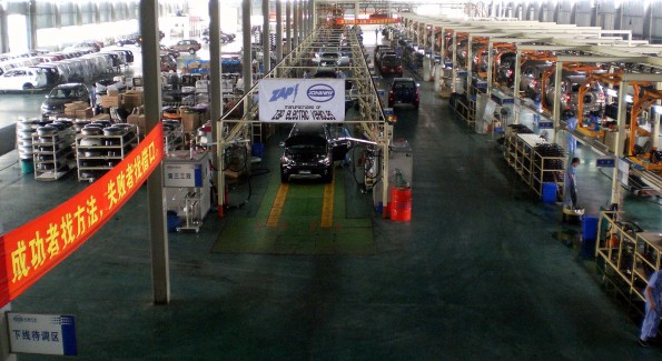 The ZAP Jonway Factory Interior