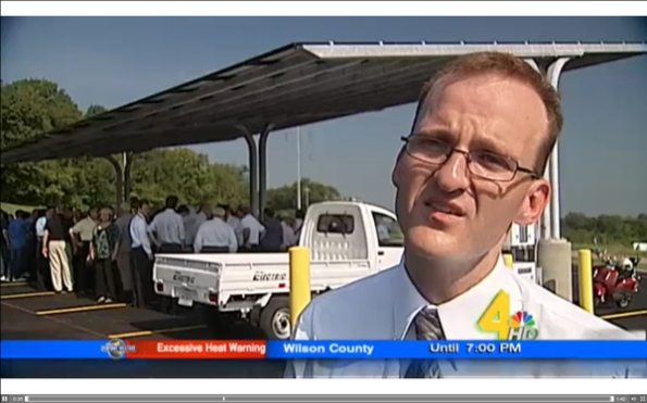 News story from WSMV about Solar Carport