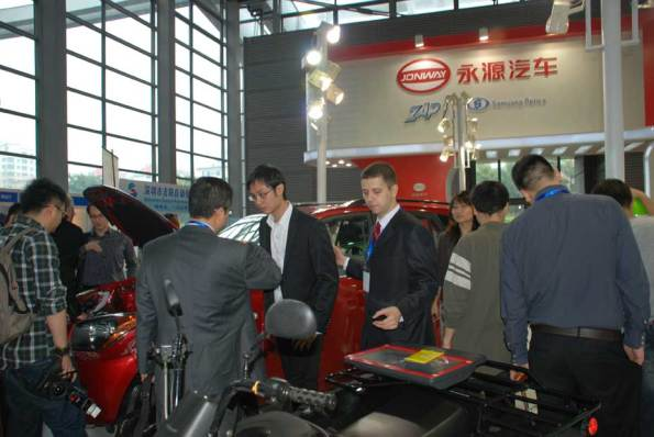 ZAP Jonway Vehicles on Display at EVS-25 in Shenzhen, China