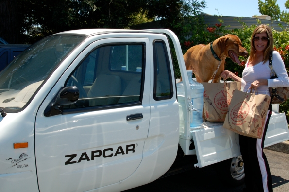 The ZAP Xebra comes as an electric car or an electric truck.